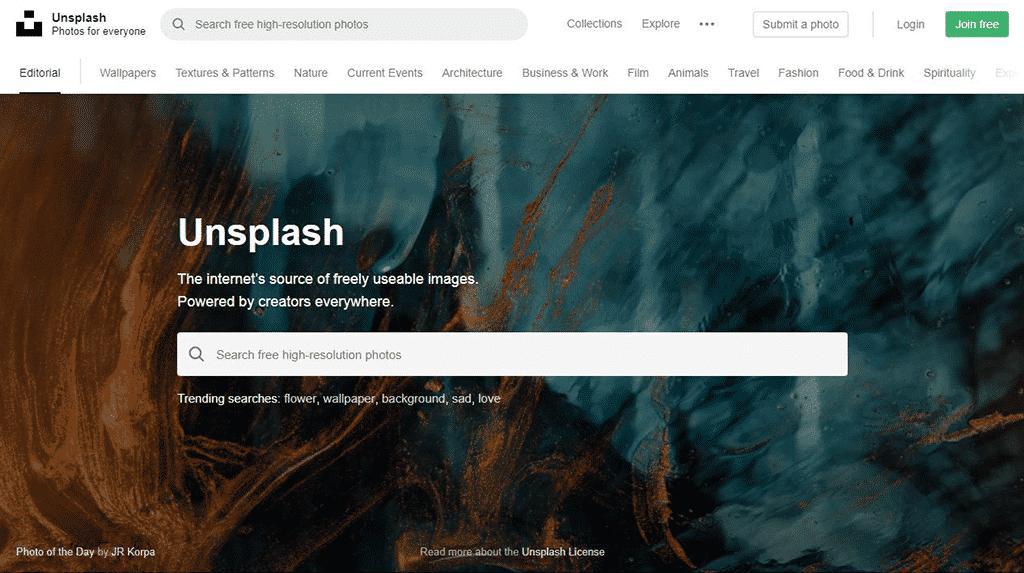 ¿Cómo encuentro imágenes gratis sin copyright? - Imagenes gratis en Unsplash 2