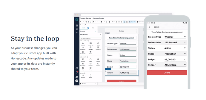 Comparativa de herramientas no-code para crear apps nativas - HoneyCode No Code Antonio Sanchez 20