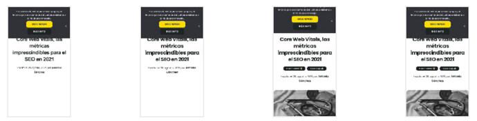Core Web Vitals ejemplo FCP LCP CLS